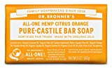 Dr. Bronner's Citrus Orange Organic Bar Soaps Pure Castile