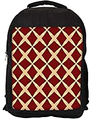 "Snoogg Red Diamonds Casual Laptop Backpak Fits All 15 - 15.6"" Inch Laptops"