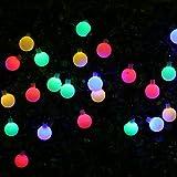 Solar Lichterketten mit 30 LEDs BOHMAIN 4.5 Meter Lang Garten Beleuchtung Bunte Laternen Außenwandbeleuchtung für Partys