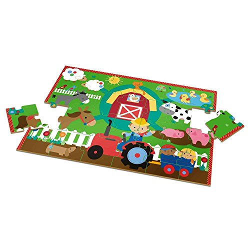 "Giant Wooden Floor Jigsaw Puzzle Farm 36"" x 24"""