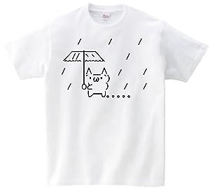ショボーン 雨降り 半袖Tシャツ グレーXL