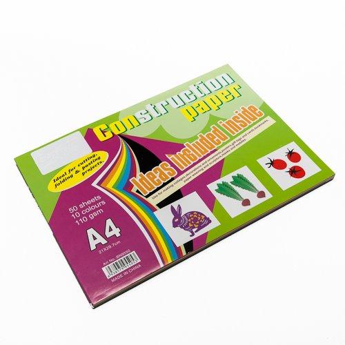 10 Colour Construction Paper Pack- By Kurtzy front-939164
