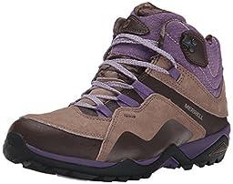 Merrell Women\'s Fluorecein Mid Waterproof Hiking Boot, Chocolate Brown, 6.5 M US