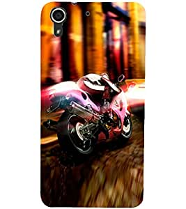 PrintDhaba Bike D-2976 Back Case Cover for HTC DESIRE 728 (Multi-Coloured)