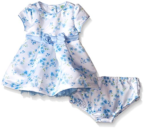 Little Me Baby Printed Dress Set, Blue Floral, 6 Months