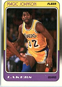 1988 89 Fleer Basketball Card #67 Magic Johnson Los Angeles Lakers Encased Sports... by Fleer NBA