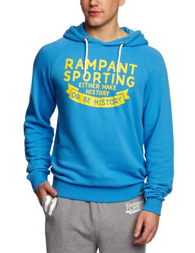 Rampant Pop Over Hoody Men's Sweatshirt Blue Medium