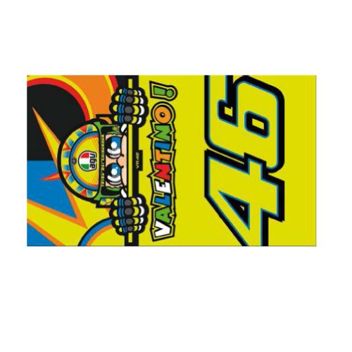 2014 Official Valentino Rossi Vr46 Doctor Sun Moon Moto Gp Beach Towel