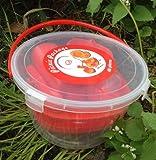 Farbe rot Picknick Set 48 Teile Geschirrset Camping Geschirr Picknickset Korb für 6 Personen 48 Teile