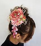 卒業式 成人式 髪飾り コサージュ 花飾り ヘアーアクセサリー 帯飾り  振袖 袴  手作り cs0395