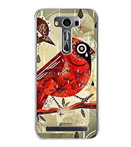 ifasho Animated Pattern birds and flowers Back Case Cover for Asus Zenfone Selfie