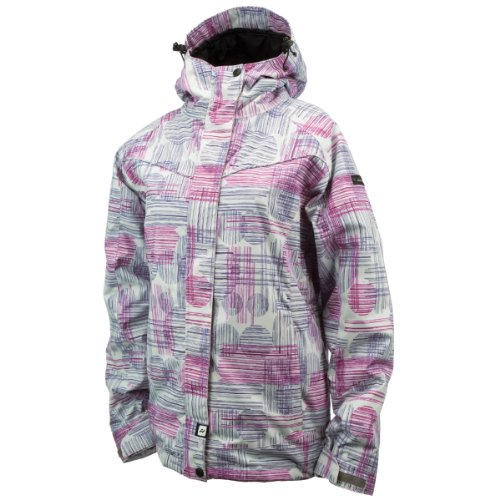 Damen Snowboard Jacke Ride Broadview Jacket women circle line print L