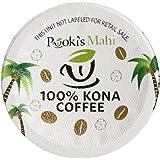 Pooki's Mahi 100% Kona Coffee, Regular, Single Serve for Keurig K-Cup Brewers, Medium Roast, 24 Count