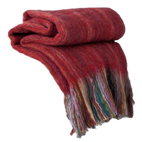 Shiraleah Wellington Throw Blanket, Red
