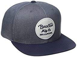 Brixton Men\'s Wheeler Snapback, Light Blue/Navy, One Size