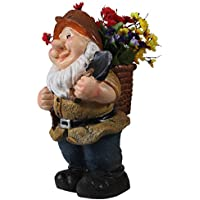 Wonderland 17 Inches Gnome Planter On Back(Garden Decor, Gifting)