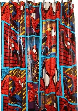 Spider Man Vinyl Shower Curtain