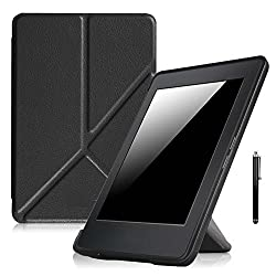 ProElite Transformer Smart Flip case cover for Amazon Kindle Paperwhite (Auto Sleep/Wake up) with Stylus Pen [Black]