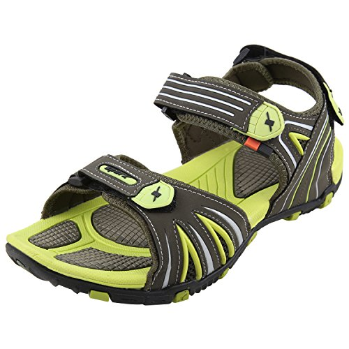 Sparx-Mens-SS0446-Series-Olive-Fluorescent-Green-Synthetic-Casual-Floater-Sandals-8UK