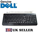 DELL USB Multimedia Keyboard , with Volume , Internet , Email, Calculator , Play - Stop buttons etc , UK QWERTY Layout , P/N : U991M , BLACK , SLIM , High Quality , Brand NEW