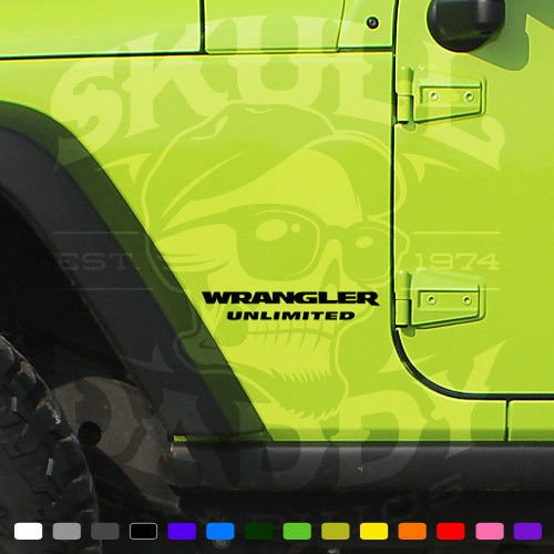 Jeep WRANGLER UNLIMITED Factory OEM Replacement Decals Stickers Graphics JK JKU (Black - Matte) (Jeep Wrangler Jk Decals compare prices)