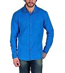Enryca Men's Casual Shirt(ENMSH 0089BLUE _Blue_38)