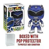 Funko Pop! TV: Mighty Morphin' Power Rangers - Blue Ranger #363 Vinyl Figure (Bundled with Pop BOX PROTECTOR CASE) (Tamaño: 3.75 inches)