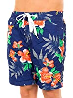 Superdry Short de Baño (Azul / Multicolor)