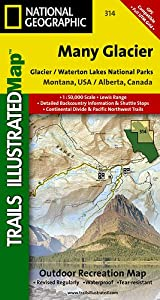 TI Map #314- Many Glacier, Glacier Lakes National Park