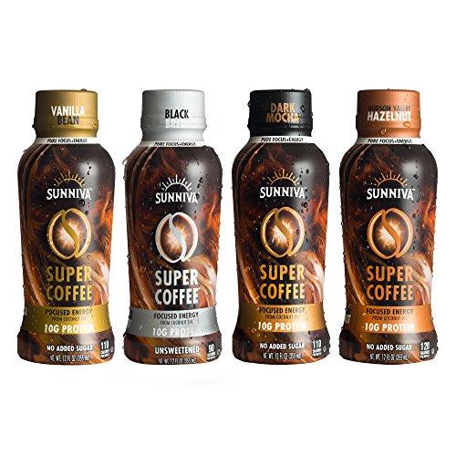 Sunniva Super Coffee Variety Pack, Pack Of 4