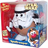 Playskool Mr. Potato Head Star Wars Series - SPUDTROOPER with Helmet, Face Mask, 1 Set of Teeth, Nose, Laser Masher, 2 Ears, 1 Set of Eyes, Shoes, 2 Arms and Potato Body