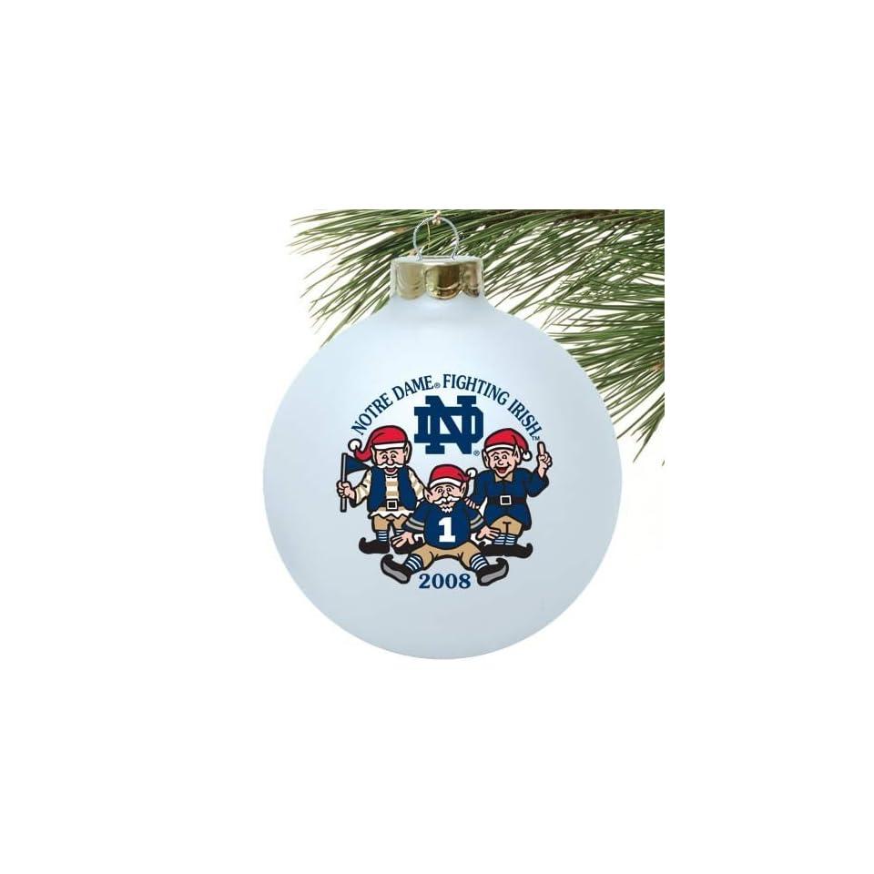 Notre Dame Fighting Irish White 2008 Collectors Series Ornament