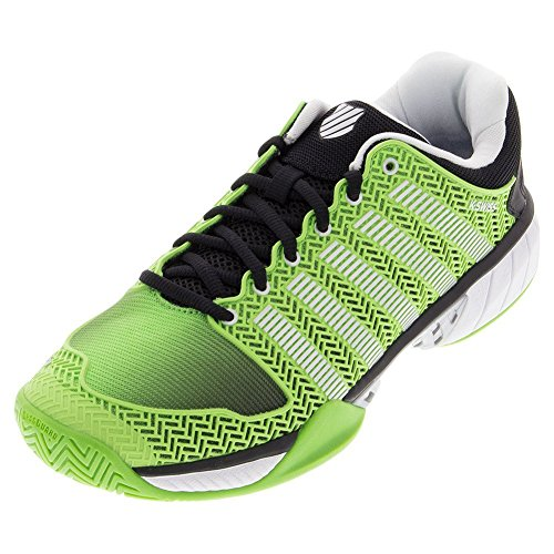 K Swiss Men's Hypercourt Express Tennis Shoe, Flash Green/Black (11.5, Flash Green/Black)