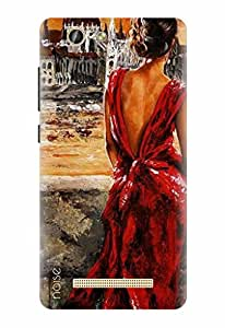Noise Designer Printed Case / Cover for Gionee F103 Pro / Patterns & Ethnic / Red Dress Design