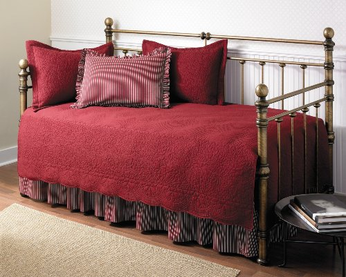 Sale!! Stone Cottage Trellis Collection 5-Piece Daybed Set, Scarlet