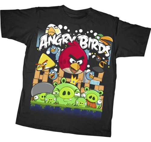 ANGRY BIRDS SHIRTS FOR KIDS – ANGRY BIRD YOUTH T-SHIRTS FOR BOYS AND GIRLS – *ANGRIEST ATTACK!* – ANGRY BIRD T-SHIRTS! KID SIZES!