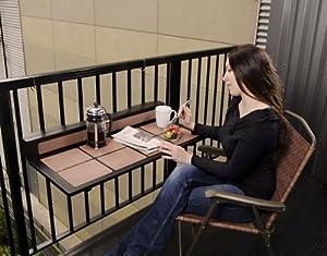 Amazon.com : Tavolo Balcony Folding Table : Outdoor And Patio