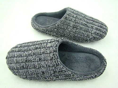 ZHLONG Home interni antiscivolo uomini caldo casual Pantofole , 1 , large