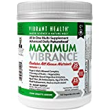 Vibrant Health - Maximum Vibrance - Meal Shake & Multivitamin from 80 plants + probiotics and digestive enzymes, 15 servings (FFP)