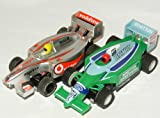 Micro Scalextric - Pair of Mclaren Mercedes Vodafone & Benetton F1 cars - 1/64th Scale Slot Cars