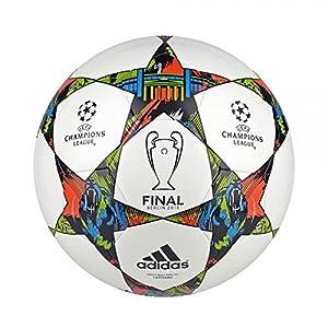 adidas Finberlincap UCL Final 2015 Berlín - Balón de fútbol, color blanco / negro / naranja / lima, tamaño 5