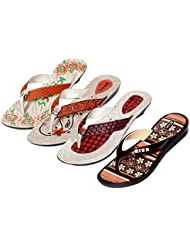 Krocs Super Comfortable Combo Pack Of 3 Pair Flip Flop With 1 Pair Slippers For Women (Pack Of 4 Pair) - B01JUBWCKK