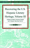 img - for Recovering the U.S. Hispanic Literary Heritage book / textbook / text book