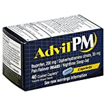 Advil PM Pain Reliever/Nighttime Sleep-Aid, Coated Caplets, 40 caplets