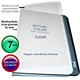 Clear Plastic Binding Covers 7 Mil 8-1/2 x 11 Qty 100 Report Sheets