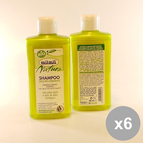 Set 6 MIL MIL Natura Shampoo 300 Aloe&Olio - Capelli