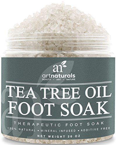 Art Naturals Tea Tree Foot Soak Salt With Epsom Salt 20 oz - Fights Athletes foot and Nail Fungus - Helps to Soften Calluses (Salt For Feet compare prices)