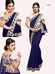 Gokul Vastra Georgette Saree (Pack of 4) (TL-90024_4_Blue)