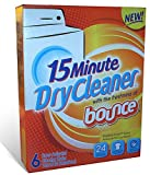 15 Minute Dry Cleaner with the Freshness of Bounce - 6 Count Dry Cleaning Cloths - Cleans 24 Garments