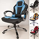 RayGar Deluxe Padded Sports Racing Gaming Chair – Blue